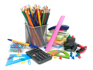 stationery on a white background