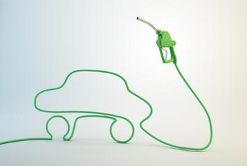Car fuel pump nozzle