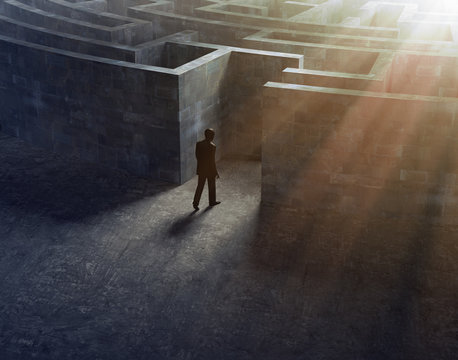 Man entering a maze