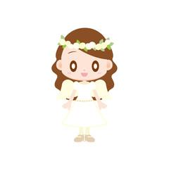 天使の衣装を着た女の子