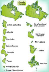 Übersicht von Kanada mit Grenzen