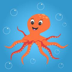 Poster Submarine Octopus