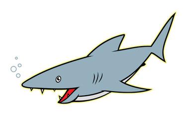 Shark - cartoon character