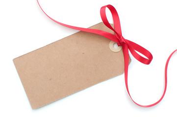 Fototapete - Gift tag