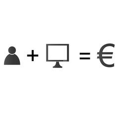 Geld verdienen im Internet - Euro