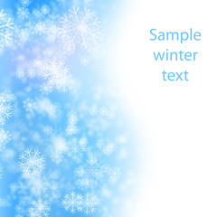 snow winter background