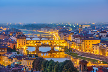 View on Arno river in Florence Wall mural