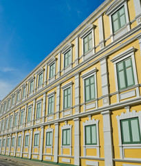 Bright yellow building