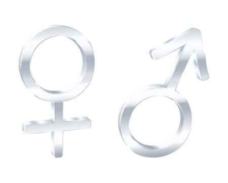 Male and female symbols. Vector illustration