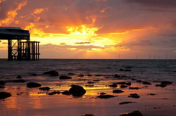 Fototapete - Llandudno Sunrise