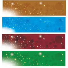 Colorful and beautiful cgristmas winter banners