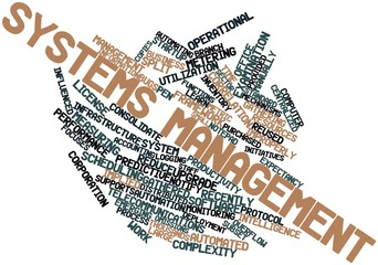 Word cloud for Systems management