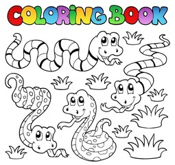 Coloring book snakes theme 1