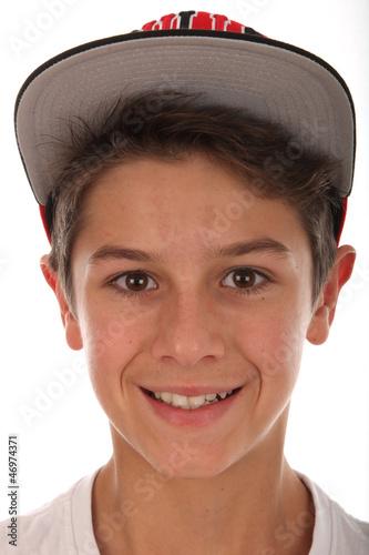 Netter Junge mit Kappe Stockfotos und lizenzfreie Bilder