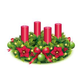 Bild Adventskranz 4 Kerzen