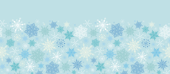 Vector Subtle Snowflake Texture Horizontal Seamless Pattern