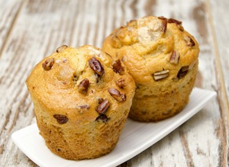 Wall Mural - Muffins con frutos secos