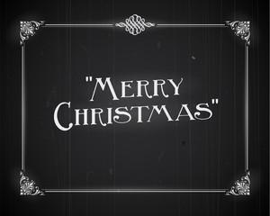 Movie still screen - Merry Christmas - Editable Vector EPS10