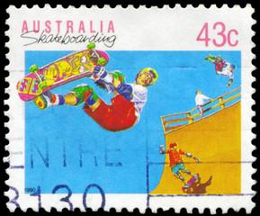 AUSTRALIA - CIRCA 1990 Skateboarding