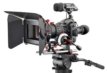 Videokamera auf Weiss