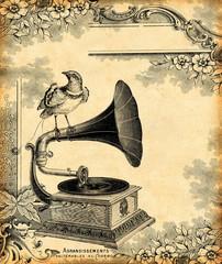 Wall Mural - gramophone 1900