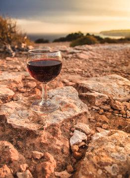 Wine on the rocks