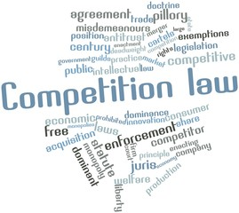 Word cloud for Competition law