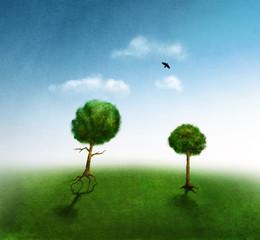 Running tree illustration
