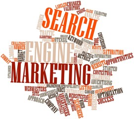 Word cloud for Search engine marketing