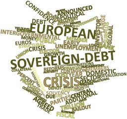 Word cloud for European sovereign-debt crisis