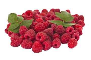 Ripe raspberry isolated