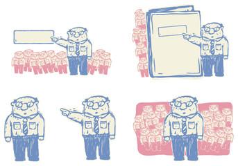 Boss giving orders vector illustration