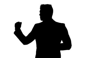 Businessman silhouette vector