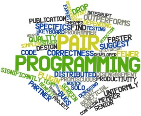 Word cloud for Pair programming