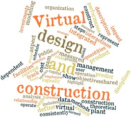 Word cloud for Virtual design and construction