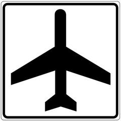 Fototapete - Schild weiß - Flugzeug
