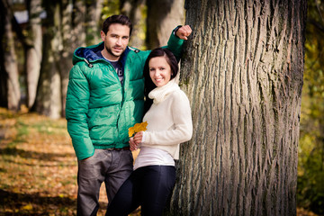 couple in the autumn park