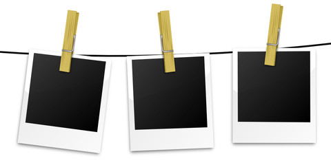 Polaroids Wäscheleine