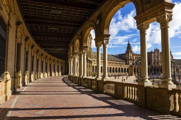 Hall of Spanish Square in Sevilla, Spain.