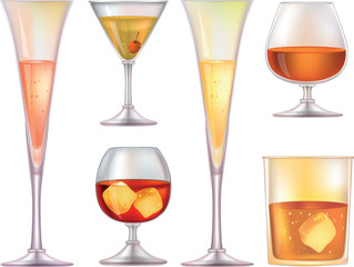 Glasses for wine. Clip-Art