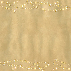 Vintage Cardboard With Gold Stars
