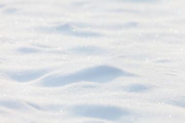 Sunny snow background