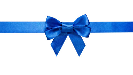 blue ribbon with bow with tails