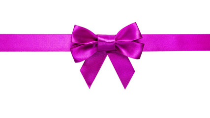 purple ribbon with bow with tails