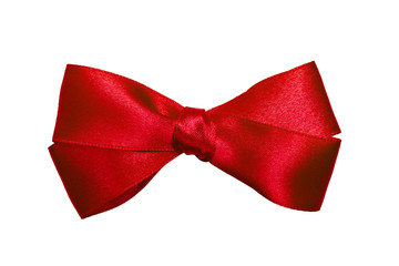 red bow from ribbon
