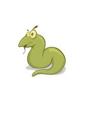 Vector illustration of green snake