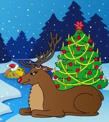 Landscape with reindeer