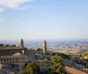 Wall Mural - Tuscany sigths, montalcino panorama