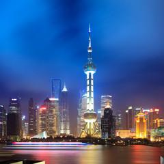 night shanghai skyline