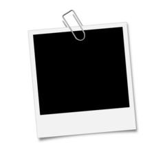 Polaroid Bild befestigt mit Büroklammer - Metallklammer